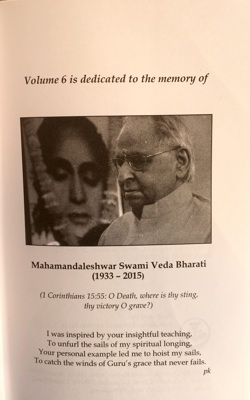 Inside Dedication of Volume 6