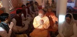 Puja for new book Silence the Illuminated Mind