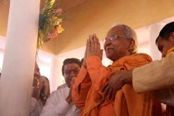 Photo Swami Veda Bharati starting the 5 year vow of silence on March 10th 2013