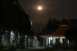 Full moon over SRSG ashram